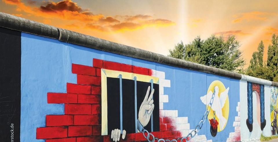 Hinter der Mauer ist das Glück